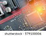 cpu on a printed circuit board... | Shutterstock . vector #579100006
