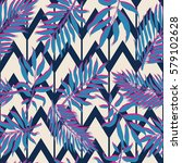 exotic seamless pattern with... | Shutterstock .eps vector #579102628