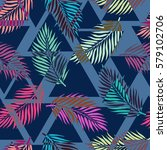 exotic seamless pattern with...   Shutterstock .eps vector #579102706