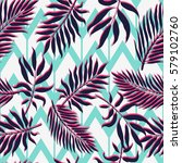 exotic seamless pattern with... | Shutterstock .eps vector #579102760