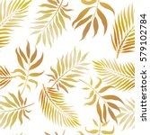 tropical exotic background.... | Shutterstock .eps vector #579102784
