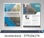 blue annual report brochure... | Shutterstock .eps vector #579106174