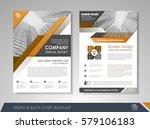 yellow annual report brochure...   Shutterstock .eps vector #579106183