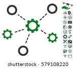 gears relations icon with bonus ... | Shutterstock .eps vector #579108220