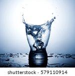 water splash in glasses... | Shutterstock . vector #579110914