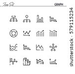 graph flat icon set. collection ... | Shutterstock .eps vector #579115234