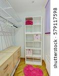 sweet interior of dressing room ... | Shutterstock . vector #579117598