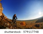 wide angle view of a cyclist... | Shutterstock . vector #579117748