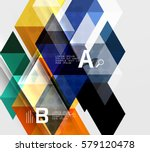 infographic template   triangle ... | Shutterstock .eps vector #579120478
