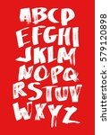 graphic font for your design.... | Shutterstock .eps vector #579120898