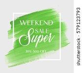 sale super weekend sign over... | Shutterstock .eps vector #579123793