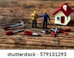 selective focus of miniature... | Shutterstock . vector #579131293