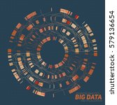 big data visualization.... | Shutterstock .eps vector #579136654