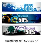 abstract discount banners on... | Shutterstock .eps vector #57913777