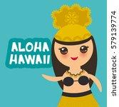 aloha hawaii card design...   Shutterstock .eps vector #579139774