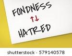 Small photo of Antonyms Fondness Hatred Arrow Graphics