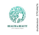health and beauty. vector logo... | Shutterstock .eps vector #579144676