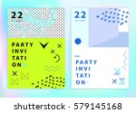 set of party invitations or...   Shutterstock .eps vector #579145168