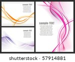 a set of abstract background... | Shutterstock .eps vector #57914881