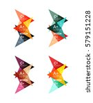 colorful arrow option... | Shutterstock .eps vector #579151228