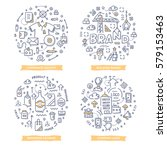 doodle vector concepts of... | Shutterstock .eps vector #579153463