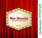 retro light sign. vintage style ... | Shutterstock .eps vector #579157249