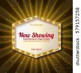 retro light sign. vintage style ... | Shutterstock .eps vector #579157258