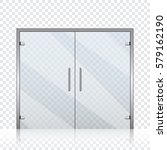 vector transparent glass doors...