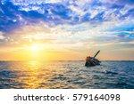 shipwreck in angsila chonburi... | Shutterstock . vector #579164098