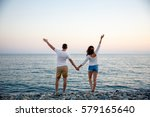 lovers of the sea | Shutterstock . vector #579165640