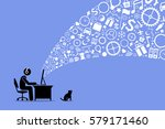 surfing the internet. | Shutterstock .eps vector #579171460