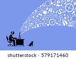 surfing the internet. | Shutterstock .eps vector #579171460