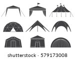 tents for camping in the nature ... | Shutterstock .eps vector #579173008