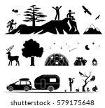 set of pictogram icons...   Shutterstock .eps vector #579175648
