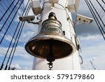 antique historical bell on the... | Shutterstock . vector #579179860