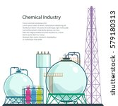 chemical plant and text  ... | Shutterstock .eps vector #579180313