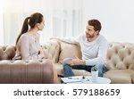 good looking friendly... | Shutterstock . vector #579188659