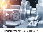 the cnc  spinning machine... | Shutterstock . vector #579188914