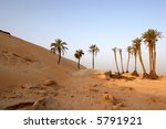 Sahara Desert, popular travel destination. - stock photo