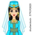 animation portrait of the arab... | Shutterstock .eps vector #579192820