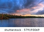 Sunset over Secret Lake in Superior National Forest