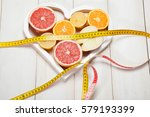 Fruits In Heart And Centimeter...