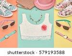 summer hipster style.design... | Shutterstock . vector #579193588