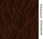 chocolate volumetric waves.... | Shutterstock .eps vector #579195310