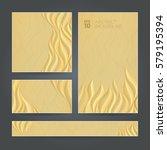 set golden banners different... | Shutterstock .eps vector #579195394