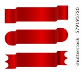 horizontal red banners vector... | Shutterstock .eps vector #579195730