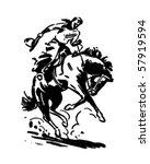 Rodeo Rider 2   Retro Clip Art