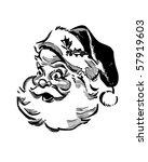 Santa   Retro Clip Art
