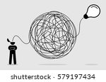 man searching and thinking of... | Shutterstock .eps vector #579197434