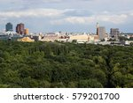cityscape of berlin and road in ... | Shutterstock . vector #579201700